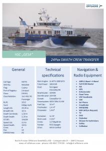 North Frisian Offshore Datenblatt Gesa