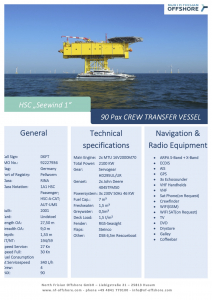 North Frisian Offshore Seewind 1 Datenblatt